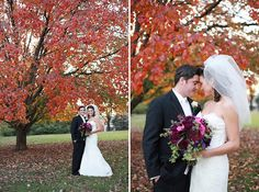 Stunning Purple Fall Wedding in St. Louis | Images by Lisa Dolan Photography