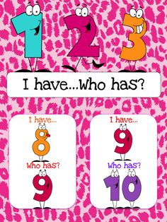 $1 I have... Who has? Game to help students learn the numbers 1-20.  Also available as part of a bundle package at a discount price.  Click link below for more info about the images used to make this resource (Images © Graphics Factory) http://jasonsonlineclassroom.com./graphics-factory/