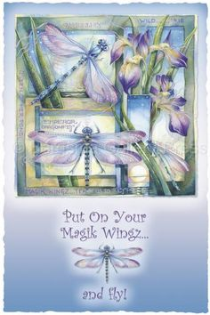 Bergsma Gallery Press :: Paintings :: Natural Elements :: Insects & Amphibians :: Dragonflies :: Put On Your Magik Wingz And Fly - Prints