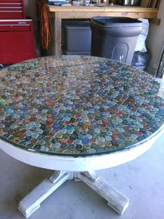 Beer Bottle Cap Table Top