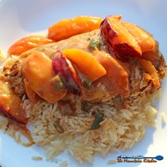 ... Chicken with Spicy Peach and Plum Coconut Sauce | Easy to make