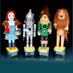 Wizard of Oz Wooden Nutcracker Set - Dorothy, Tin Man, Scarecrow, and Cowardly Lion Christmas Time, Christmas Crafts, Christmas Decorations, Christmas Ornaments, Holiday Decor, Homecoming Decorations, Christmas Clay, Christmas Things, Christmas Goodies
