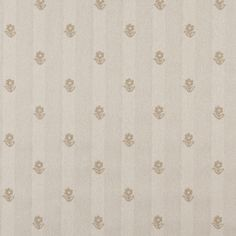 Khaki And Beige, Flowers Country Upholstery Fabric By The Yard