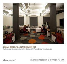 Fusion Design Consultants, Inc. Office | Boston, MA | Fusion Design Consultants, Inc. - Linear & Plane Hexagon tile