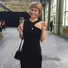 Singer Nanna Øland aka Ohland in By Malene Birger Irisa dress