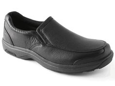 7f419f8efb7 Dunham Battery Park Men s Slip-On Shoe features ROLLBAR technology with  medial and lateral posts