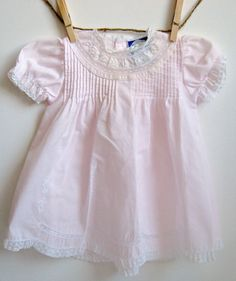 Powder Pink Vintage Dress Baby Girl 6 Months by BellaHoneyArt, $8.50