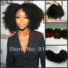 Afro Texture Hair Extensions | cambodian virgin hair afro kinky curly hair weave/extensions double ... Natural Afro Hairstyles, Hairstyles Haircuts, Black Women Hairstyles, Cool Hairstyles, Medium Haircuts, Pelo Natural, Natural Hair Care, Natural Curls, Natural Beauty