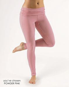 Yoga Clothes from Gossypium | Organic Cotton Fold Over leggings - GOSSYPIUM | Natural & Organic Yoga clothes Crafted in the UK