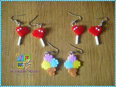 Comida - Food - Piruletas corazón y helados en pendientes - lollipops ice cream earring - PLANTILLAS Hama beads, Designs and Patterns Hama Beads
