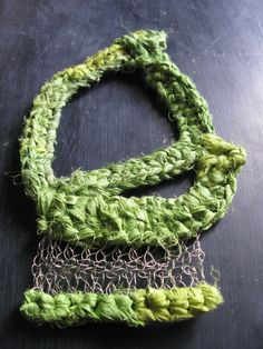Wire crochet necklace www.wearitcrochet.com