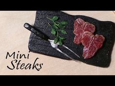 Miniature Steak (Raw / Uncooked) - Polymer Clay Tutorial - YouTube