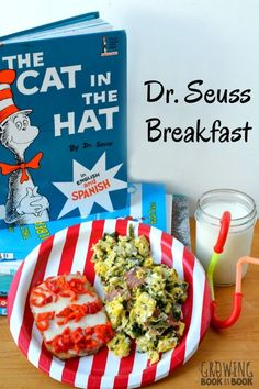 Make Cat in the Hat Birthday Hash Browns to go alongside green eggs and hame for a Dr. Seuss themed breakfast. A perfect start to National Read Across America Day.