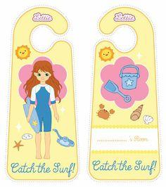 Body Boarder Lottie doll door hangers for kids #free #printables Download at www.lottie.com/create/