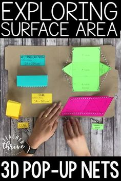 Teaching Surface Area with Nets - Education interests Problem Solving Activities, Math Activities For Kids, Math For Kids, Geometry Activities, Classroom Activities, Maths Area, Math Notes, Math Projects, Math Crafts