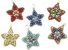 Deb Roberti - Free instructions for Starlight earrings or pendant.  #Seed #Bead #Tutorials