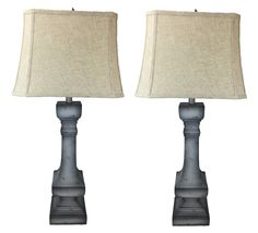 """Burnt-Edge Country 35"""" H Table Lamp with Empire Shade"""