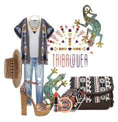 """""""TRIBALOVER"""" by keepitrealforme ❤ liked on Polyvore featuring rag & bone, ATM by Anthony Thomas Melillo, Steve Madden, WithChic, Vera Bradley, MAC Cosmetics, Sensi Studio and tribalover"""