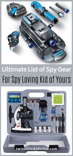 "Twin Cities Kids Club Blogs: The Ultimate List of Spy Gear For That Spy Loving Kid of Yours - Do you have a future spy on your hands? If your child loves sleuthing and sneaking, you might consider getting them some top-secret equipment for their missions. Top-secret meaning, ""Surprise! I got you some spy gear that you're going to love. #kids #games #fungames #indoorgames #kids #kidsactivities #gameday #gameart #gamenight #kidsroomideas #kidscrafts #parents #parenting #parentingtips"