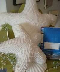 Chenille Starfish Pillows - need to look for chenille in this pattern!!