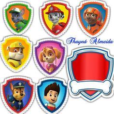 Personajes Paw Patrol, Paw Patrol Birthday Theme, Edible Printing, Cupcake, Banner, Miniatures, Stickers, Tags, Paper Toys