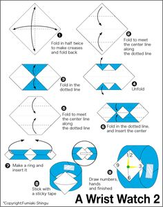 Origami Watch W Is For