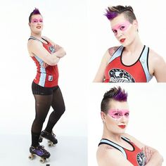 I cannot put into words how honored I am to wear @atlrollergirls red.  I have learned so much training with these amazing athletes: I am beyond excited at the possibilities!  Photos by @tmox Contacts by @samhaincontactlenses  #arg #argintheatl #bringyouragame #derby #rollerderby #tmox #samhaincontactlenses by w.hitman811