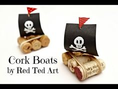 Easy (Pirate) Cork Boats | Red Ted Art's Blog