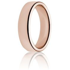 6mm 18K heavy weight double comfort rose gold ring | weddings-direct.com