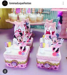 Minnie's Boutique Birthday Custom Favor Boxes Mickey Mouse Clubhouse Birthday, Minnie Birthday, Baby First Birthday, First Birthday Parties, First Birthdays, Mickey Mouse Favors, Minnie Mouse Party, Mouse Parties, Minnie Boutique