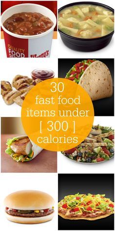 Fast Food Menu Items Under 300 Calories Low Cal Diet Oppskrifter Low Calorie Fast Food, 300 Calorie Lunches, Healthy Fast Food Options, Fast Healthy Meals, No Calorie Foods, Low Calorie Recipes, Diet Recipes, Healthy Eating, Healthy Recipes