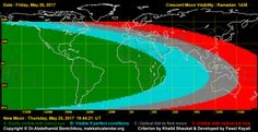 There are very good chances of crescent visibility in most part of the world today, 26th May 2017. We will publish sighting reports as soon as we get them. Ramadan starts tomorrow, 27th May 2017 in all countries of the world. Ramadan Mubarak to all! #Ramadan2017 | #Ramadan1438