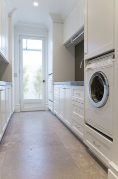 Laundry room with wine storage - traditional - Laundry Room - Sydney - Dan Kitchens Australia ideas ideas australia ideas ikea Mudroom Laundry Room, Laundry Room Cabinets, Small Laundry Rooms, Laundry In Bathroom, Laundry Cupboard, Interior Design Living Room, Living Room Designs, Küchen Design, House Design