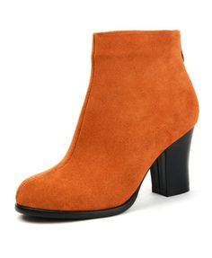 5c65a06a3061 Heeled Ankle Boots with Back Zip Closure and Sheer Rubber Sole Ankle Boots