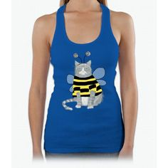 Grumpy Cat With A Bee Costume Bee Movie Womens Tank Top