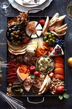 Thanksgiving Cheese Board from www. (What's Gaby Cooking) Thanksgiving Cheese Board from www. (What's Gaby Cooking) Charcuterie And Cheese Board, Charcuterie Platter, Cheese Boards, Antipasto Platter, Cheese Board Display, Meat Cheese Platters, Meat Platter, Appetizer Recipes, Yummy Recipes