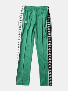 $99.99 Slim Pants, European Fashion, Kappa, Streetwear Fashion, Elastic Waist, Street Wear, Sweatpants, Legs, Black And White