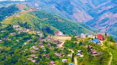 One half of Longwa village lies in India and the other in Myanmar. The village is home to mesmerizing peaks, villages, and affectionate people.