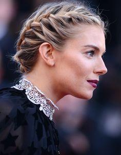 La couronne de tresses de Sienna Miller - Cannes 2015 : les plus belles coiffures sur tapis rouge - Elle