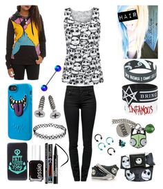 """""""Style #119"""" by katlanacross ❤ liked on Polyvore featuring Converse, Proenza Schouler, Bibi, Smashbox and Essie"""