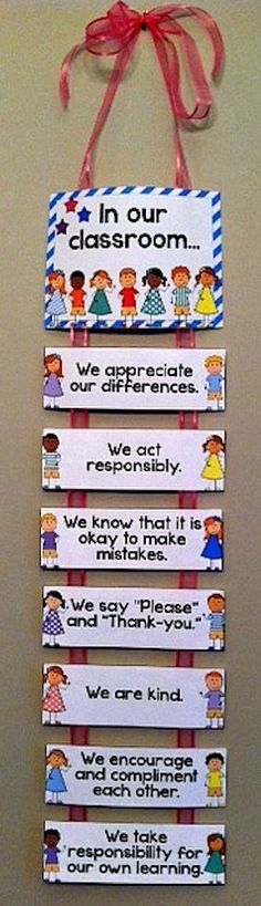 Poster display for classroom expectations and community building. Great to create a safe and caring classroom environment and reminds students to appreciate each other's differences. Class Displays, School Displays, Classroom Displays, Class Rules Display, Display Boards For School, Classroom Posters, Classroom Door, School Classroom, Classroom Norms