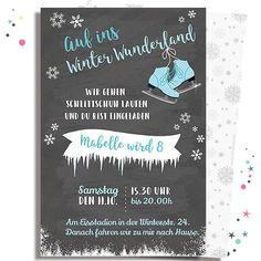 Text Ideen Für Die Einladung Zum Kindergeburtstag. Schlittschuhlaufen ...