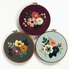 r/Embroidery - Same pattern and stitches, 3 different ways!r/Embroidery: A community for hand and machine embroiderers to exchange tips, techniques, resources, and ideas.Embroiderers do it in the hoop! Floral Embroidery Patterns, Embroidery Flowers Pattern, Hand Embroidery Stitches, Embroidery Hoop Art, Hand Embroidery Designs, Embroidery Techniques, Cross Stitch Embroidery, Sewing Art, Florals
