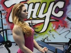 18-year-old Russian 'muscle Barbie'