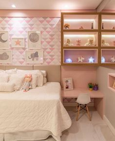 38 Cute and Girly Bedroom Decorating Tips for Teenagers - Page 10 of 38 - VimDecor Pink Bedroom Design, Girl Bedroom Designs, Modern Bedroom Design, Modern Room, Girls Bedroom, Cute Bedroom Ideas, Trendy Bedroom, Cozy Bedroom, Study Table Designs