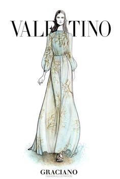 #VALENTINO SPRING 2015 #PFW by #GRACIANOfashionillustration
