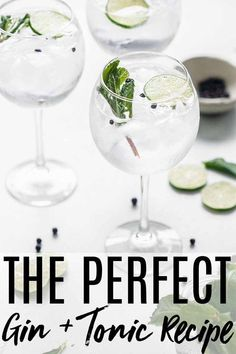 Gin and Tonic recipe // 3 Ways - #recipe #tonic - #TeaCocktailRecipes #gincocktails