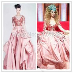 Find More Celebrity-Inspired Dresses Information about Myriam Fares Red Carpet Dresses Blush Pink Lace Taffeta Celebrity Dresses 2015 Scoop Floor length Ball Gown Long Lace Sleeves ,High Quality carpet leather,China carpet upholstery Suppliers, Cheap dress casual shoes men from True Love Bridal dress Co., Ltd.  on Aliexpress.com