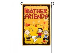 PEANUTS SNOOPY FALL GATHER FRIENDS MINI FLAGSIZE 12x18NEW @ niftywarehouse.com #NiftyWarehouse #Peanuts #CharlieBrown #Comics #Gifts #Products