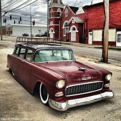 '55 Chevy Wagon..Re-pin brought to you by #CarInsuranceagents at #HouseofInsurance in #EugeneOregon